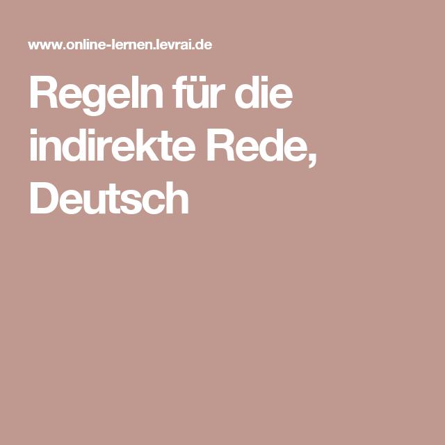 regeln f r die indirekte rede deutsch 1 dl seiten pinterest learn german german language. Black Bedroom Furniture Sets. Home Design Ideas