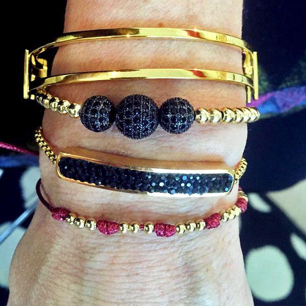 Set By Vila Veloni Ball Of Fire Bracelets