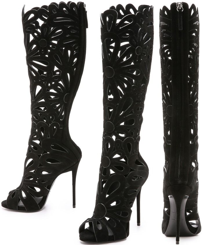 Giuseppe Zanotti Cutout Knee-High Boots classic sale online 7YjIe4