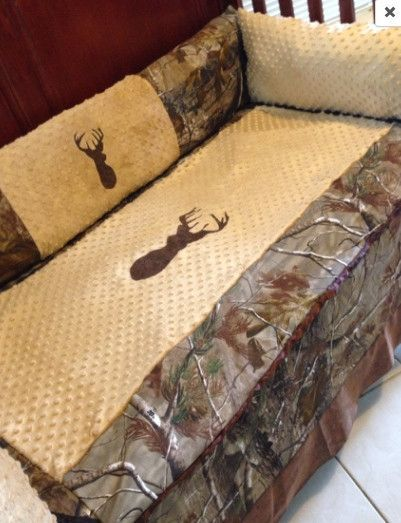 Camouflage Bettwäsche Brown Buck Realtree Ap Camo Hunting Baby Bedding Set For