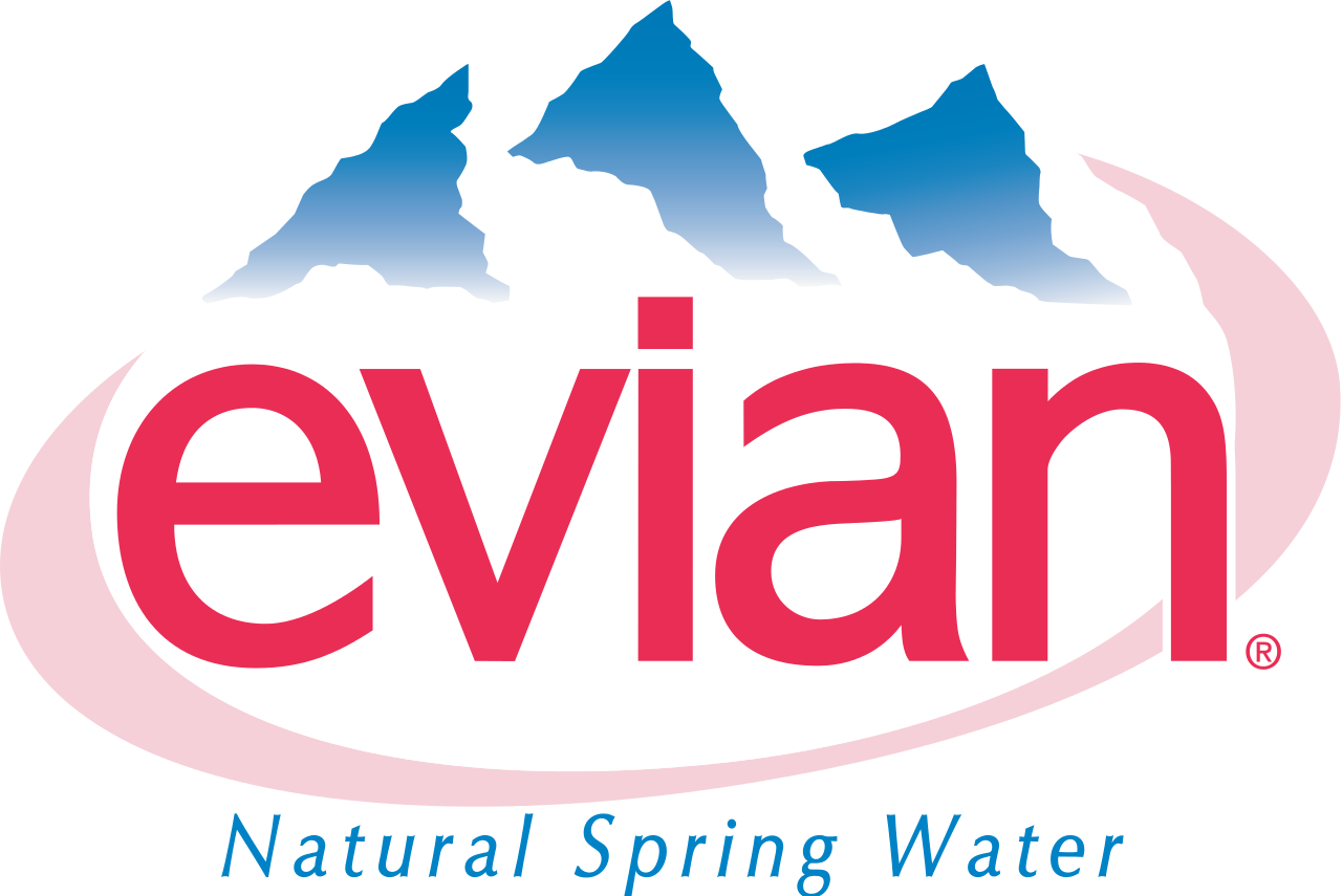 This is a logo for evian, which is a spring water company ...