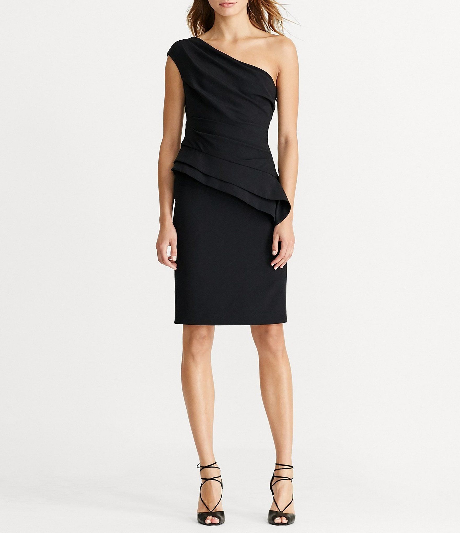 Shop for Lauren Ralph Lauren One-Shoulder Peplum Dress at Dillards ...