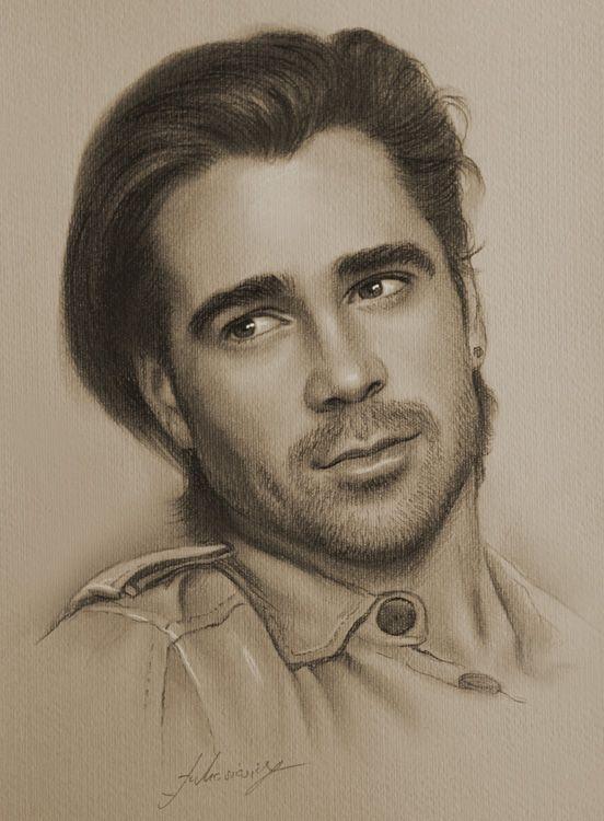 Celebrity Pencil Portraits - Colin Farrell