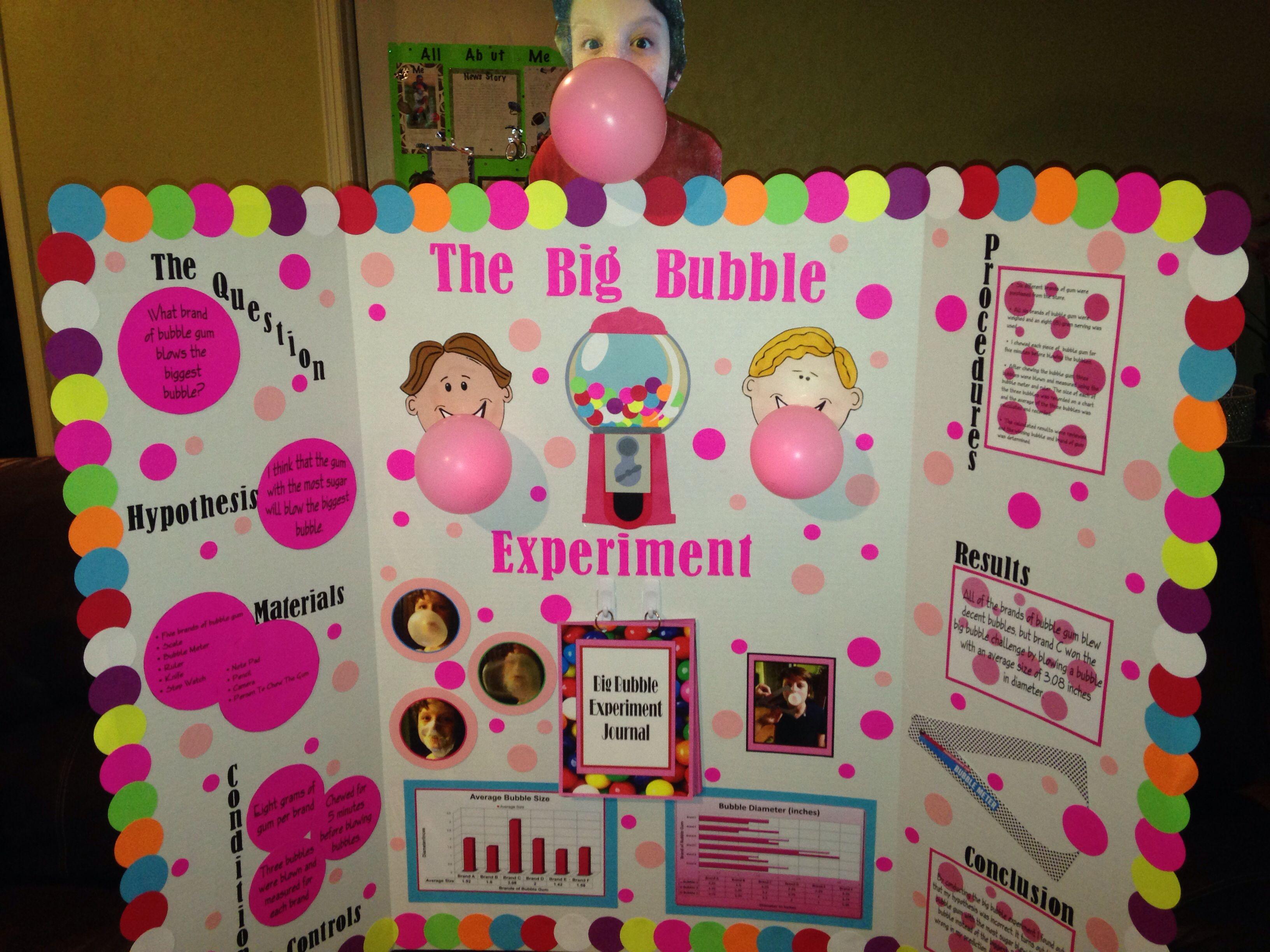 Biggest Bubble Science Fair Project