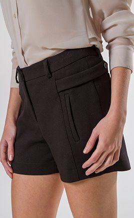 Shorts clássico cintura alta
