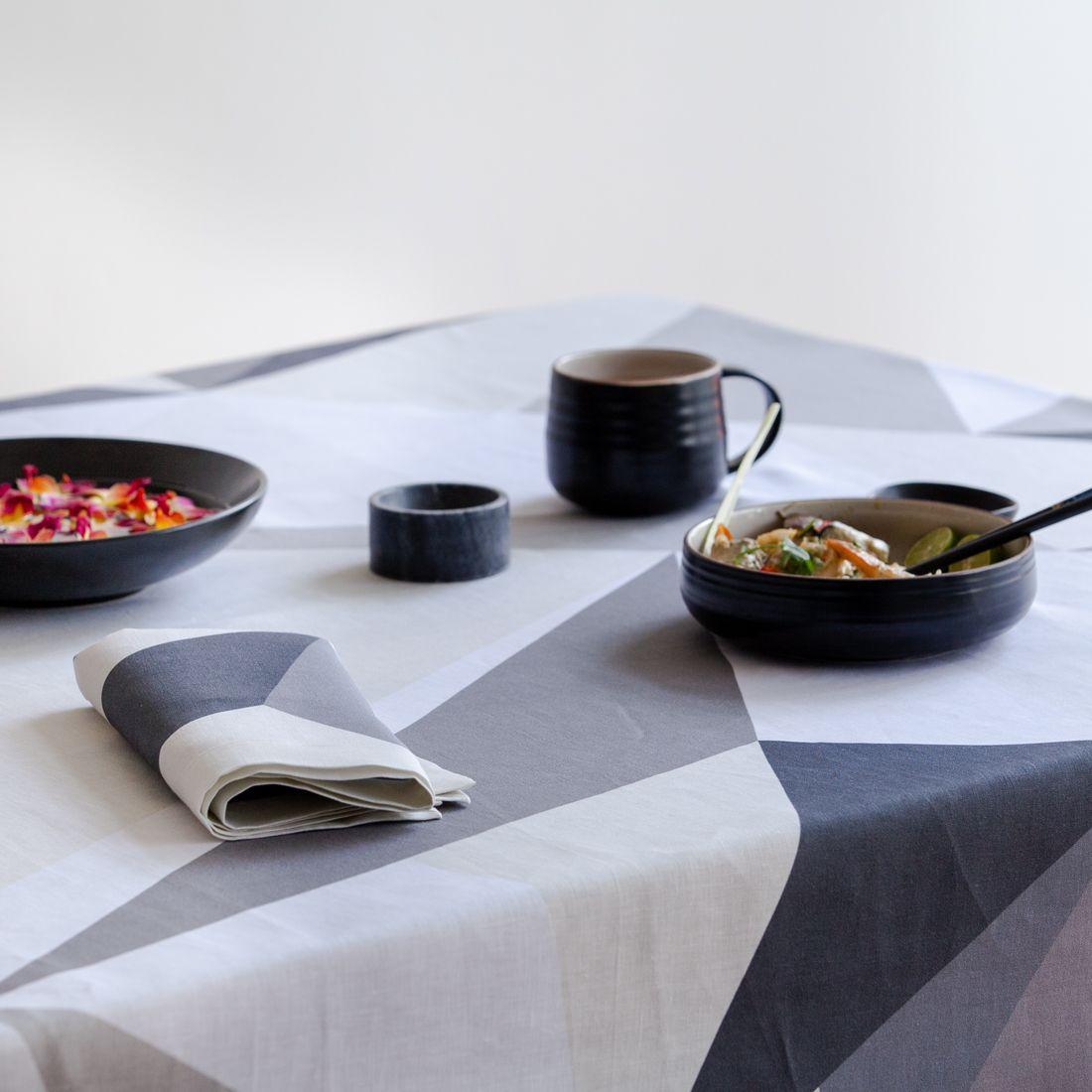 Diamond Light Linen Napkin Table Cloth Round Linen Tablecloths