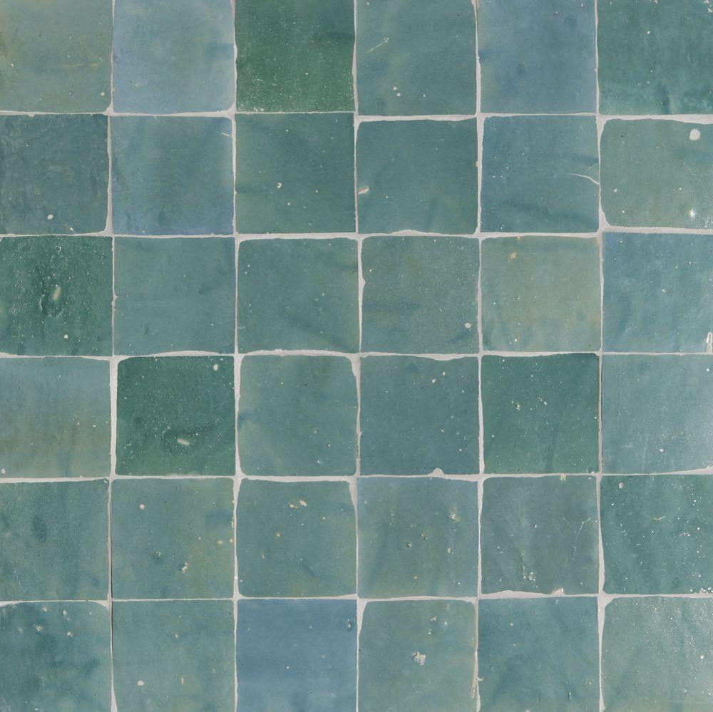 Wandtegels keuken blauw - Keuken met cement tegels ...