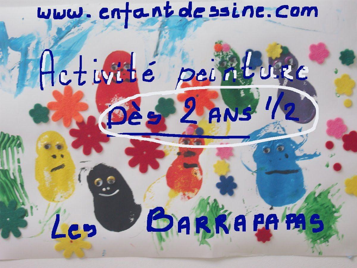 activite peinture barbapapa 2 ans | enfants