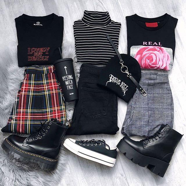precio moderado seleccione para mejor claro y distintivo 3 looks (estilo grunge) | linea de ropa en 2019 | Ropa ...