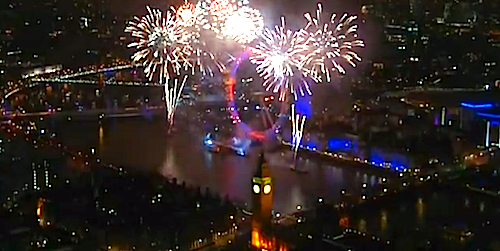 London Fireworks 2013 New Year Live BBC One (VIDEO