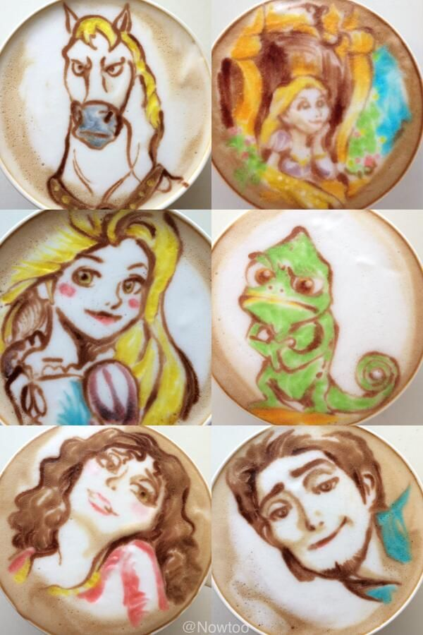 Wake Up and Smell the Geeky Latte Art! Disney and more!