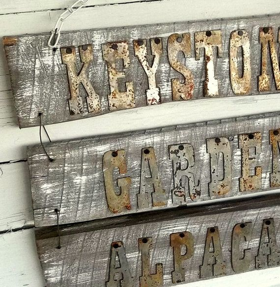 Metal Letters On Wood Unique Personalized Reclaimed Wood Sign Reclaimed Barnwood Sign Rusty Decorating Inspiration