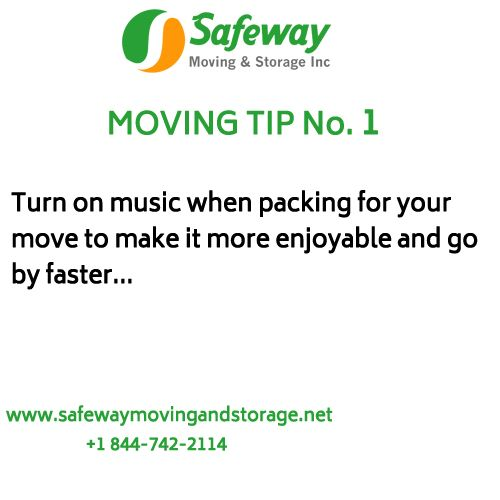 Essential Moving Tips From Safeway Moving And Storage. Turn On Music When  Packing For Your