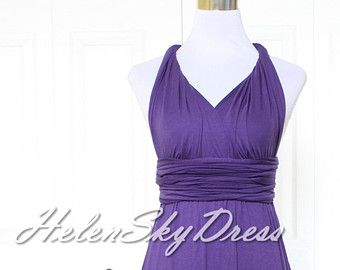 Convertible Dress / infinity dress/ bridesmaids dress Eggplant, Lavender, Lilac, Royal Purple, Dark Purple