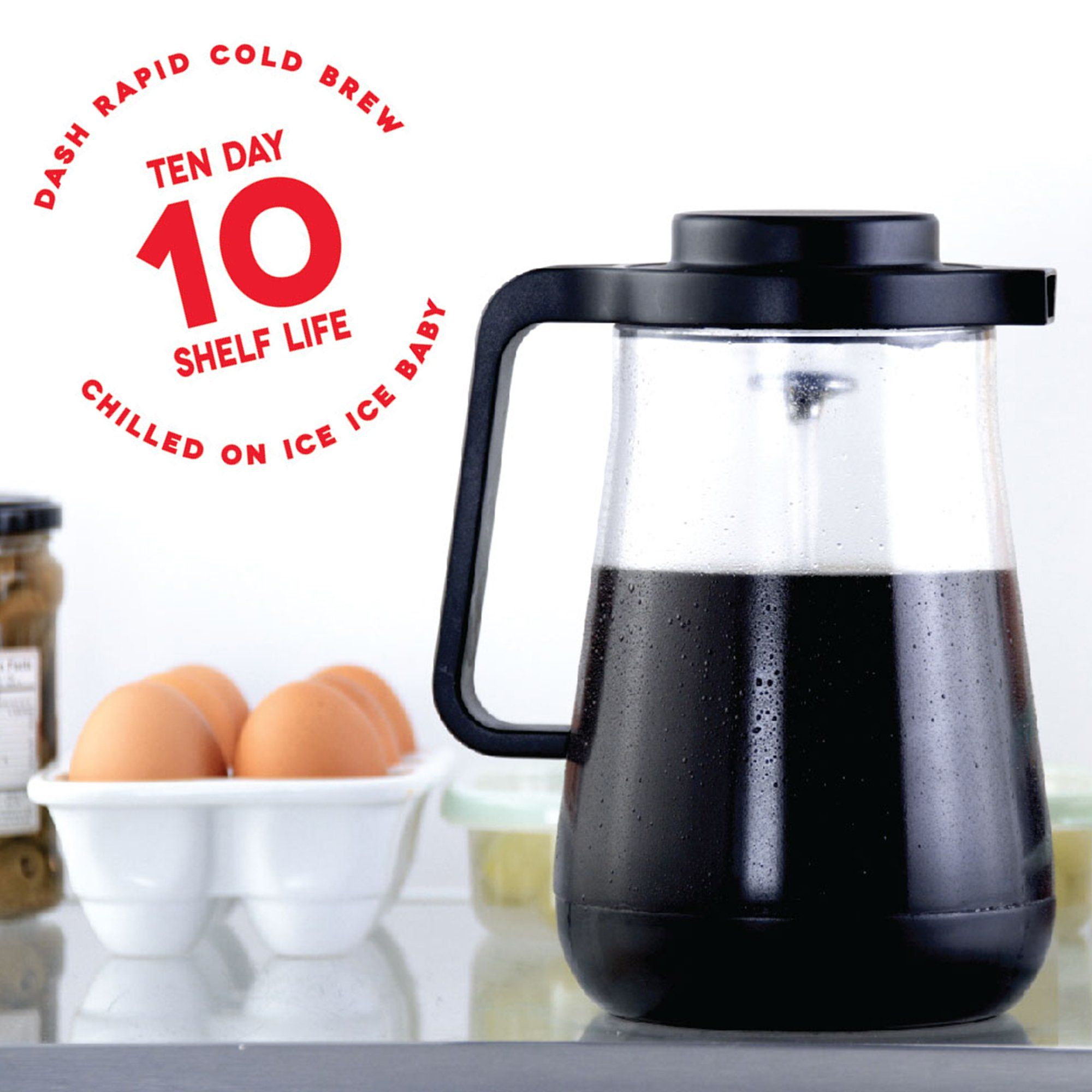 Dash Rapid Cold Brew Coffee Maker With Easy Pour Spout 42 Oz 1 5 L Carafe Pitcher Black More Info Co Cold Brew Coffee Cold Brew Coffee Maker Carafe Pitcher