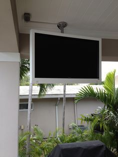Patio Tv Ideas On Pinterest Outdoor Tv Cabinet Tv Covers And Tvs Backyard Patio Patio Tv Patio Design