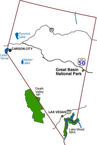Great Basin National Park Climate Geography Maps DesertUSA - Us map great basin