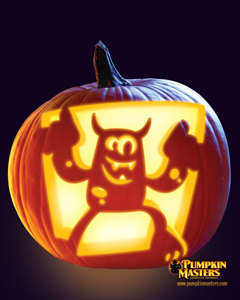 Uncategorized Trick Or Treat Stencil conga monsta pattern from the pumpkin masters carving kit carving