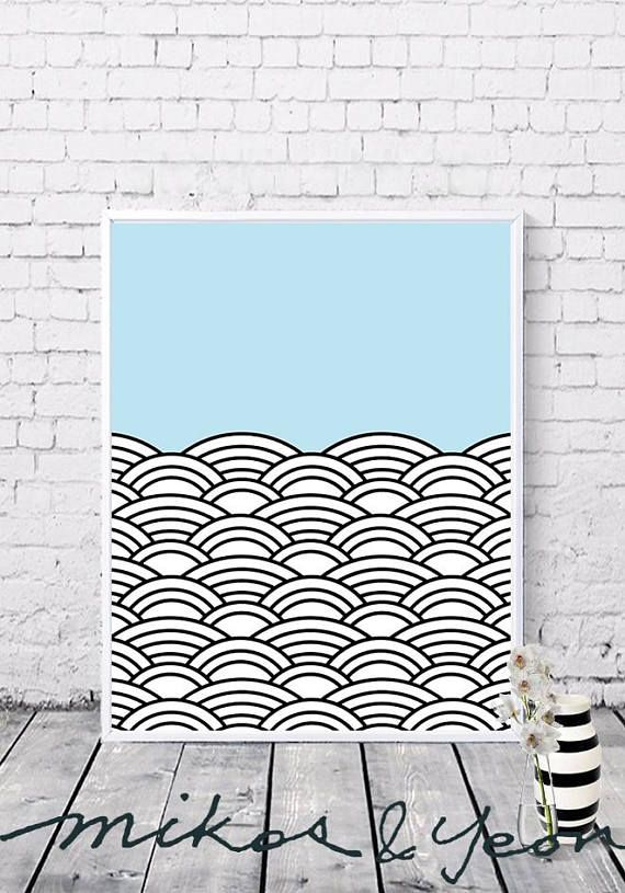 Sky Clouds wall art Korean traditional patterns-Clouds   koreanbo ...