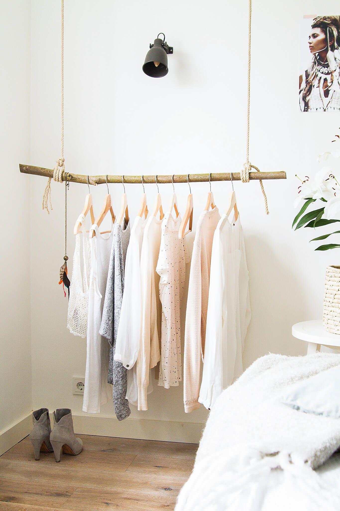 zelfgemaakt kledingrek easy peasy amber loves design hangkleding droom slaapkamer
