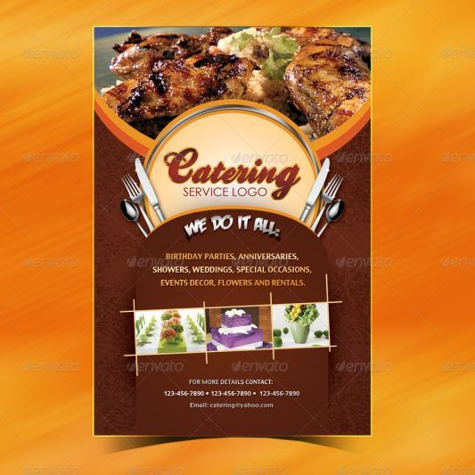 Brosur Flyer Menu Katering Desain Pinterest Menu, Pamphlet - sample menu template