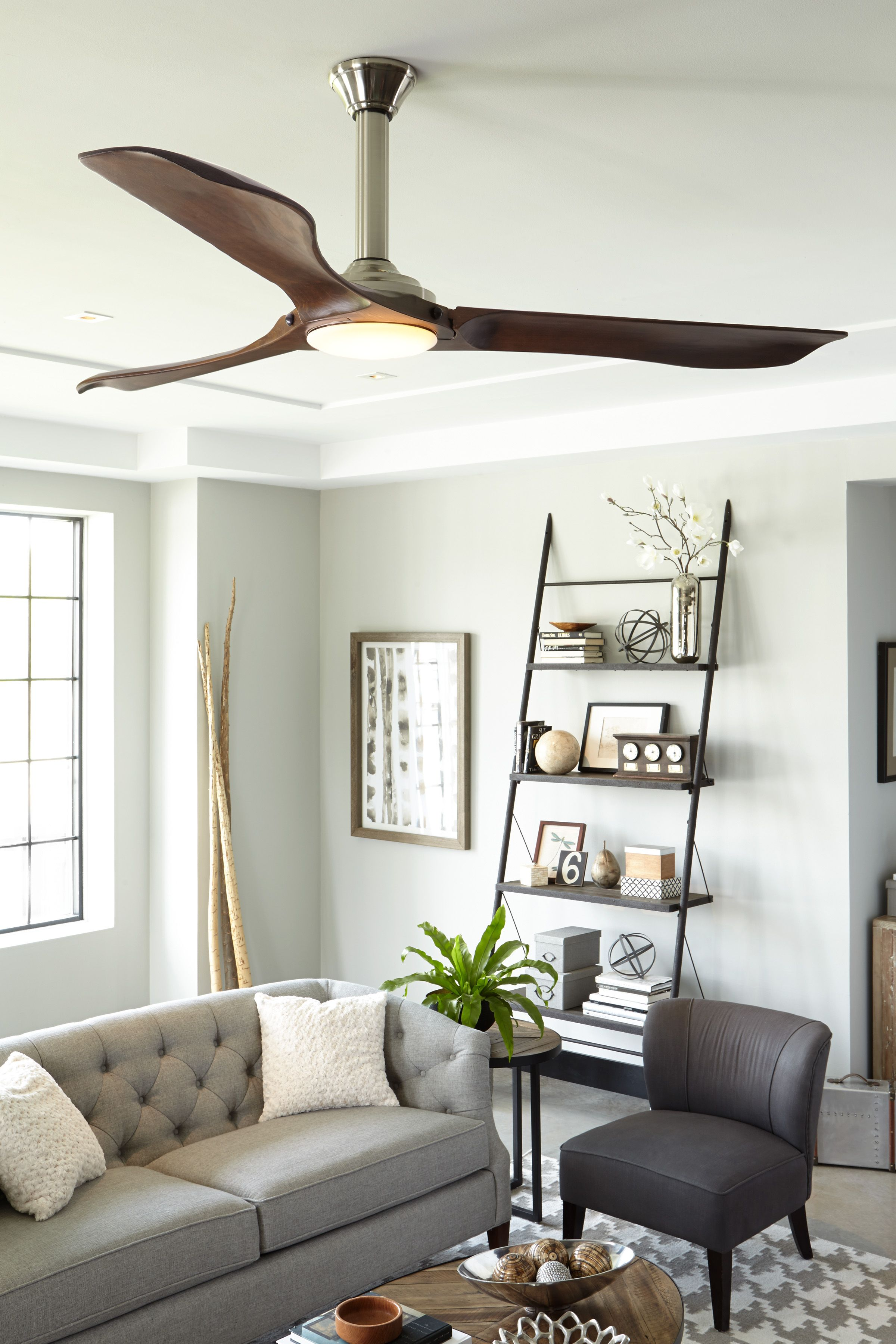 Ceiling Fan Size For Living Room With Carpet How To Choose A Guide Blades Airflow Library Minimalist Max From Monte Carlo Company