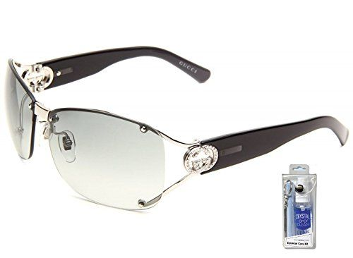 9d64be0796 Amazon.com  Gucci 2820 F S 0010 ZR Shiny Palladium Gray Gradient Sunglasses  Bundle-2 Items  Clothing