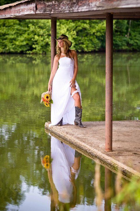 Nash Farms Bridal Sunflowers Country Cow Boots