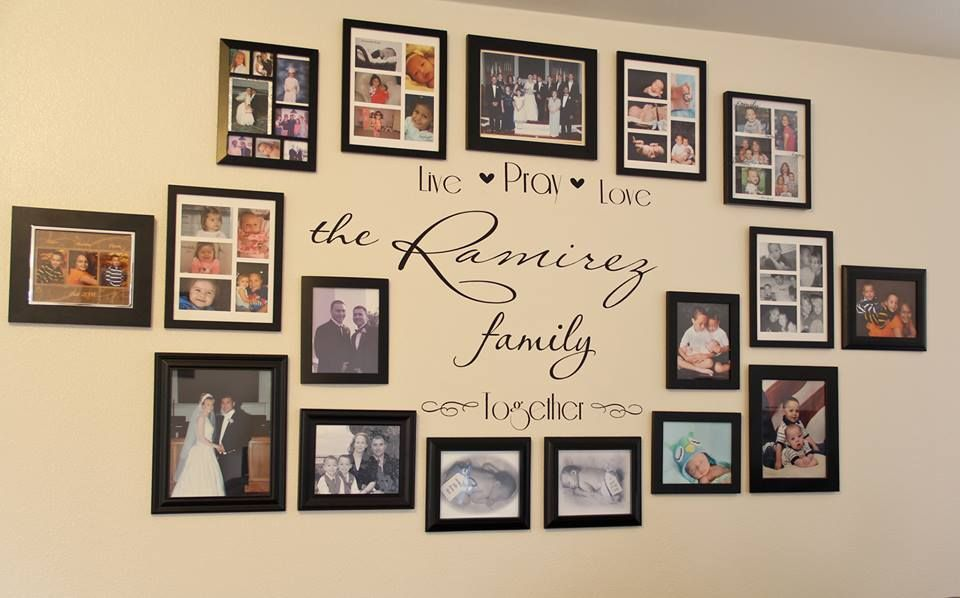 Idea for my family wall decorating ideas pinterest - Hanging photo frames ideas ...