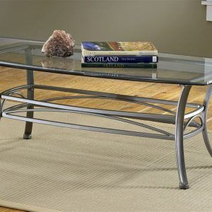 Superb Wrought Iron Coffee Table With Glass Top