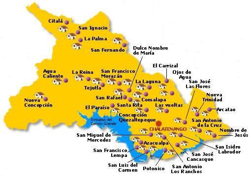 Chalatenango Department Map