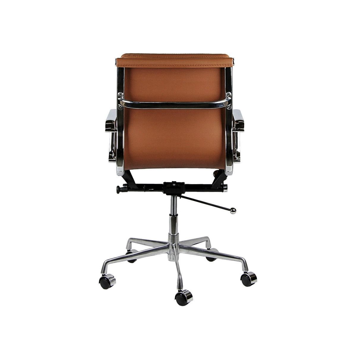 eames ribbed chair tan office. soho soft pad management chair (brown) eames ribbed tan office