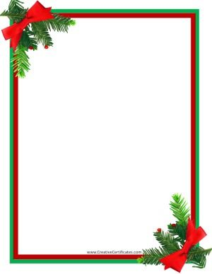 Free Christmas Borders Instant Download Many Designs Available