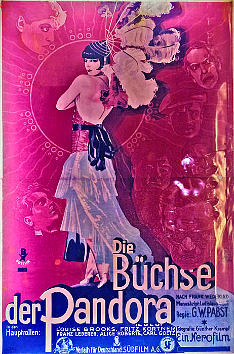 Louise Brooks color poster Pandora's Box