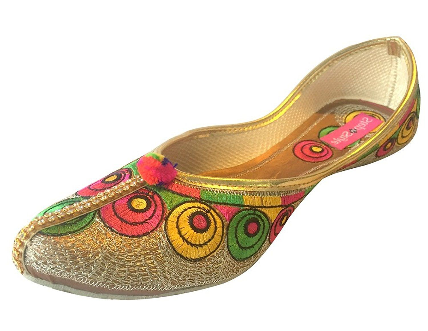 b1f61d9650d1 Step n Style Handmade Leather Shoes Punjabi Jutti Indian Shoes Khussa Shoes  Mojari    See this great product.