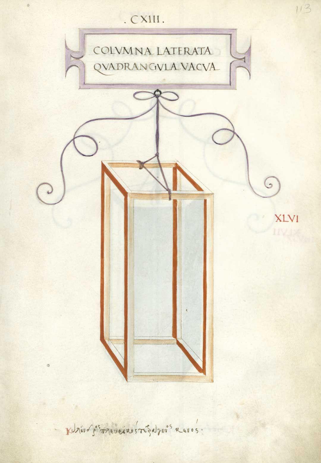 Colvmna Laterata Qvadrangvla Vacva Cxiii Leonardo Da Vinci Sezione Aurea Scienza