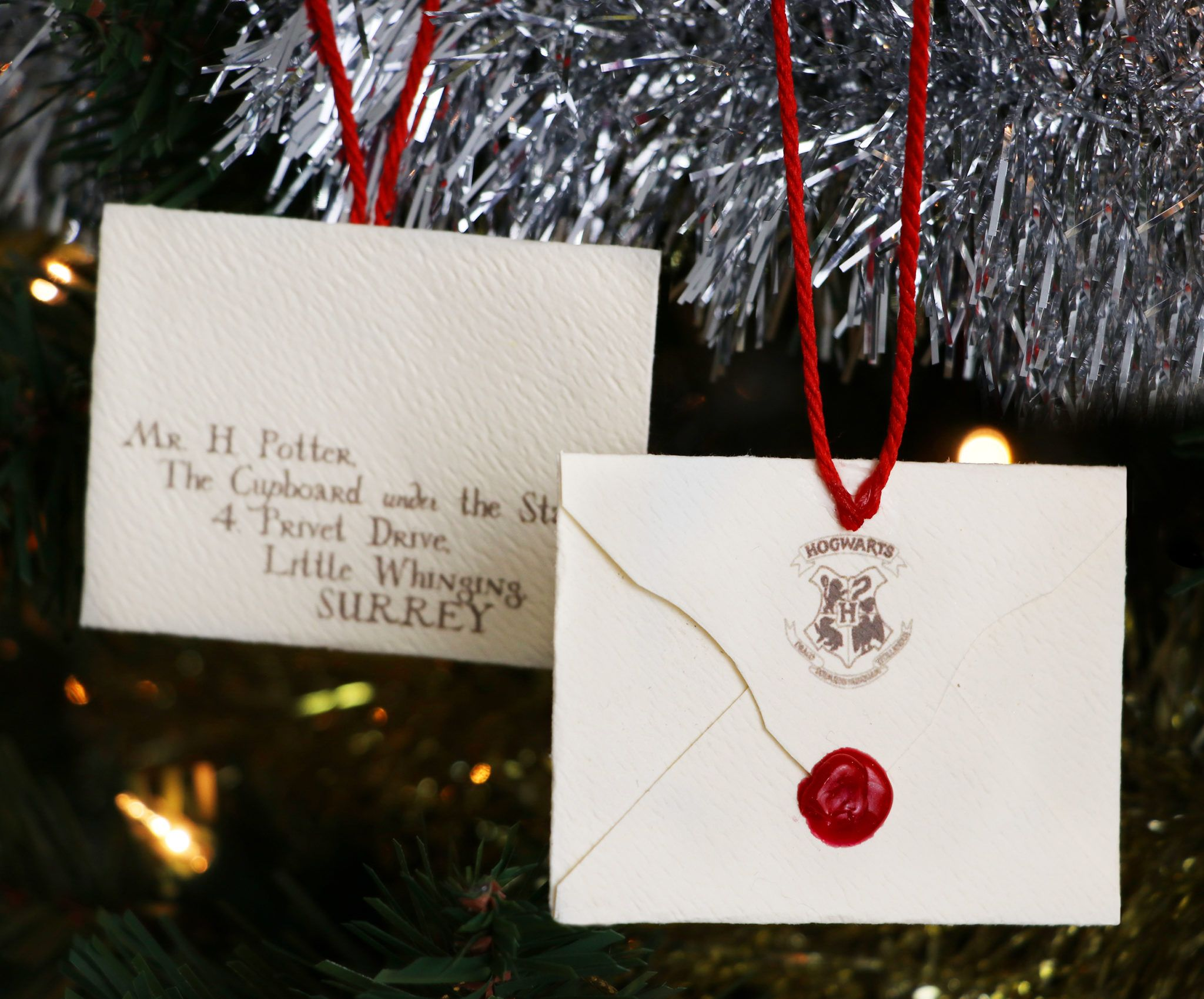 Diy Miniature Hogwarts Letter Christmas Tree Ornament Harry Potter Holida Harry Potter Christmas Ornaments Harry Potter Christmas Harry Potter Christmas Tree