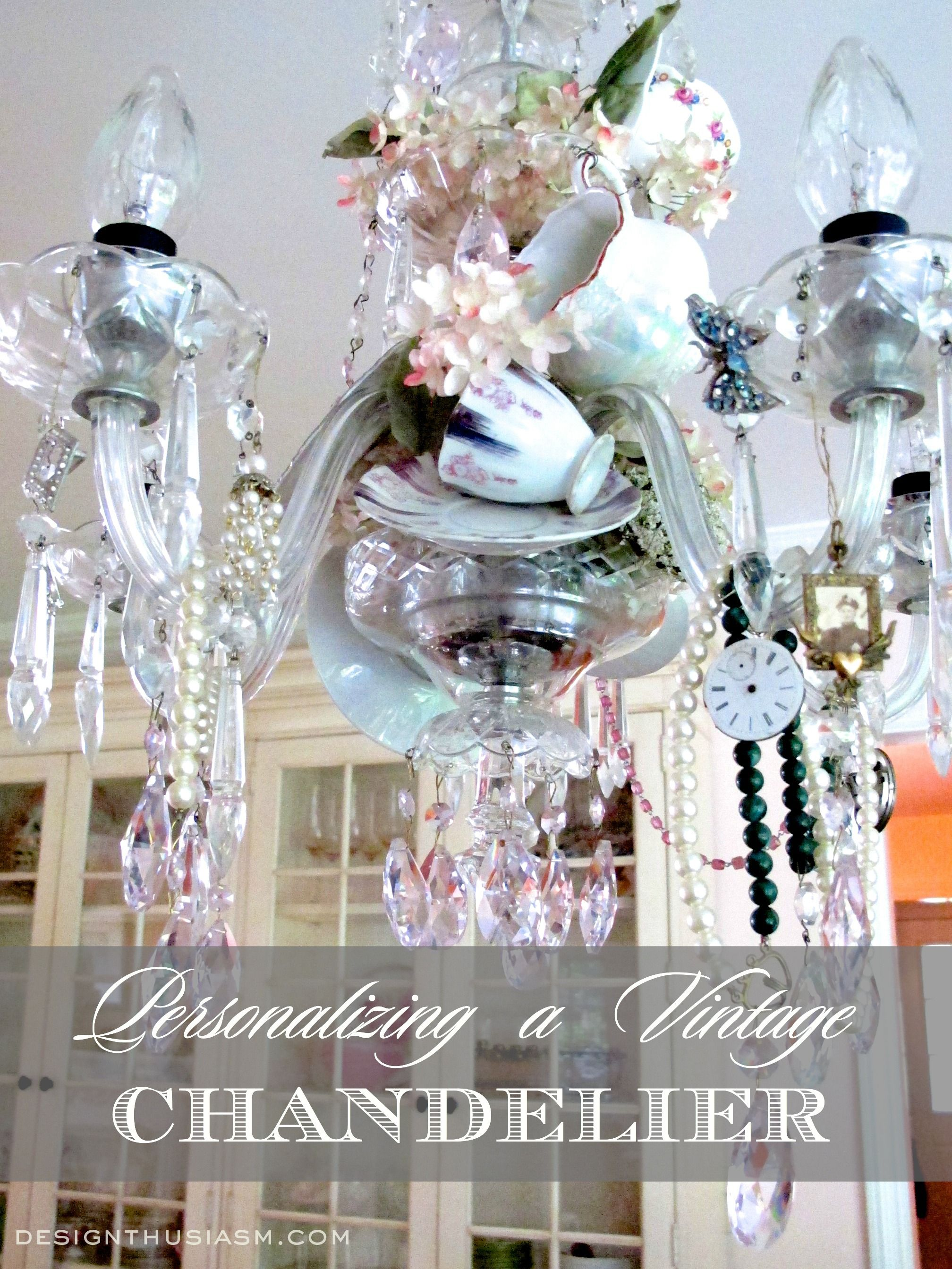 How To Personalize Your Vintage Crystal Chandelier Diy Add Personality A