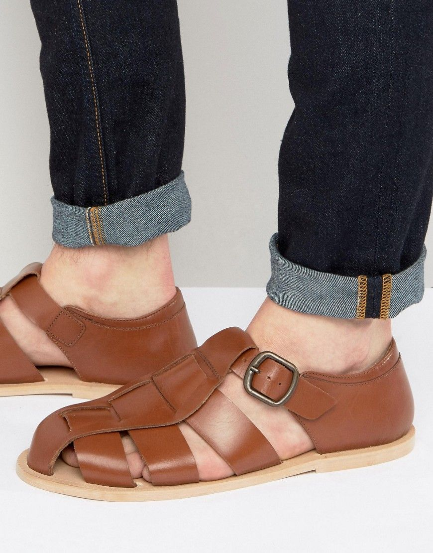 Sandals by Dead Vintage, Leather upper, Pin buckle fastening