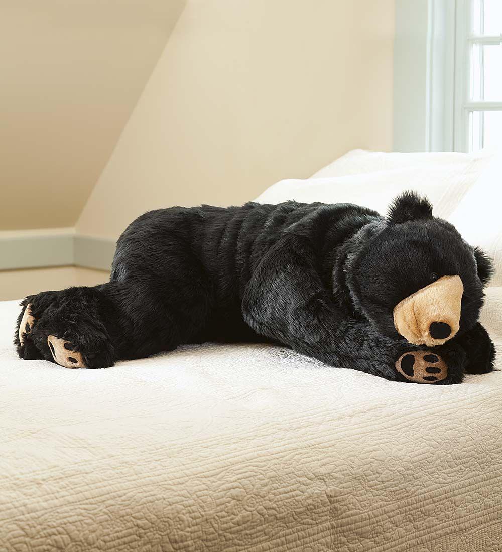 Bear body pillow.