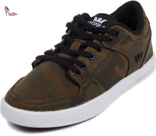 Supra Vaider LC Mens Sneaker vert S86017, Size:38 - Chaussures supra (*