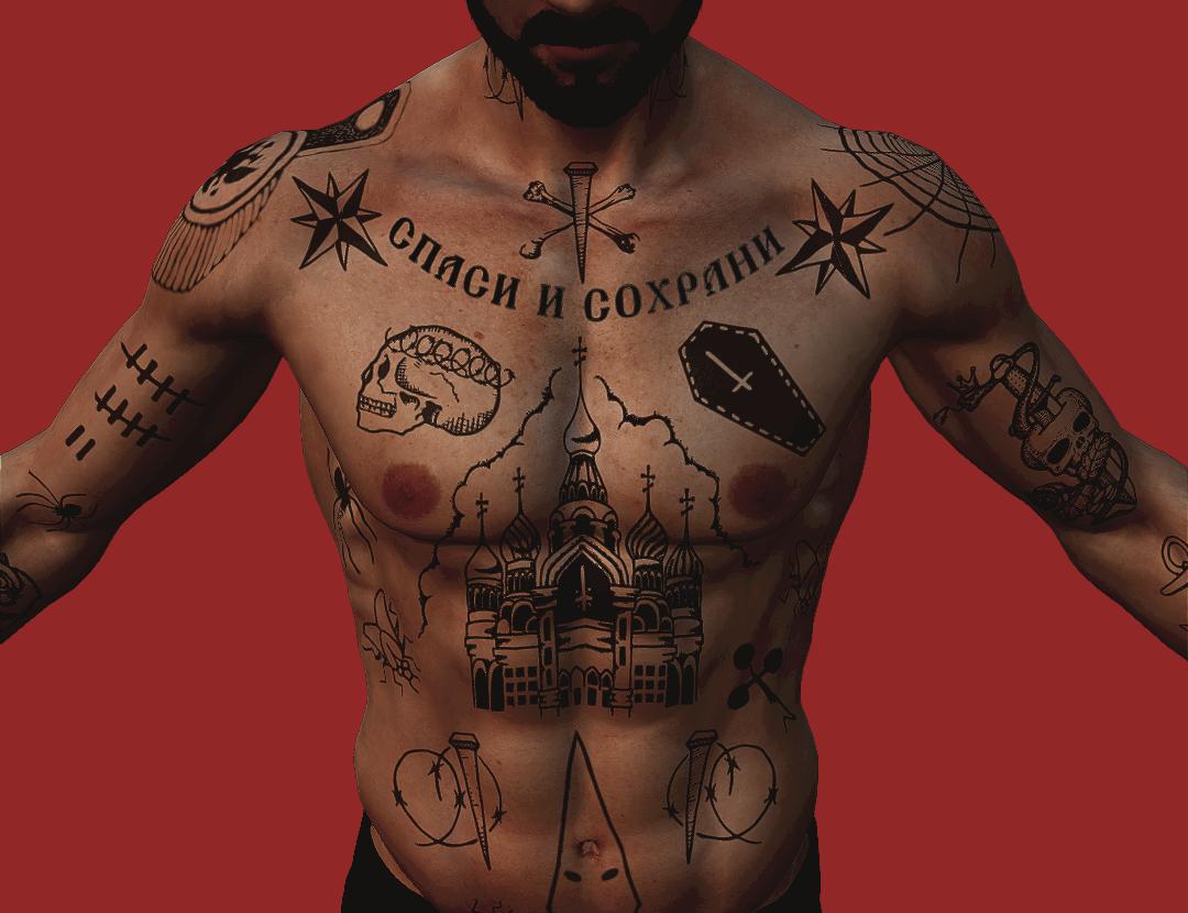 bratva black chest neck stomach principles lines