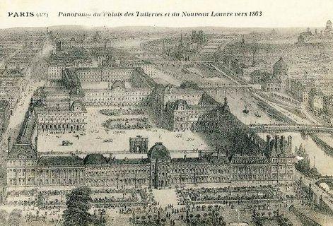 The Tuileries Palace Louvre Old Paris Paris