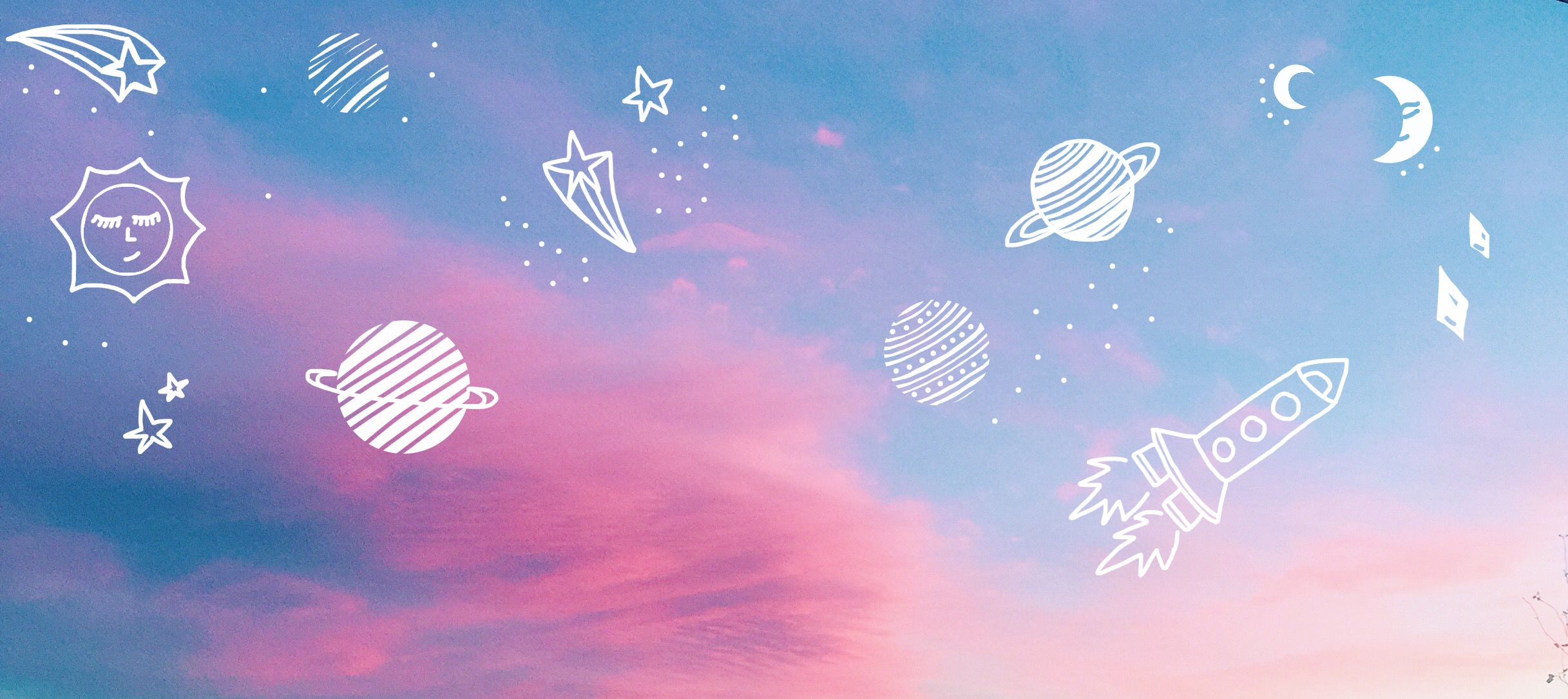 Cotton Candy Clouds Are The Best Aesthetic Desktop Wallpaper Aesthetic Wallpapers Cute Laptop Wallpaper