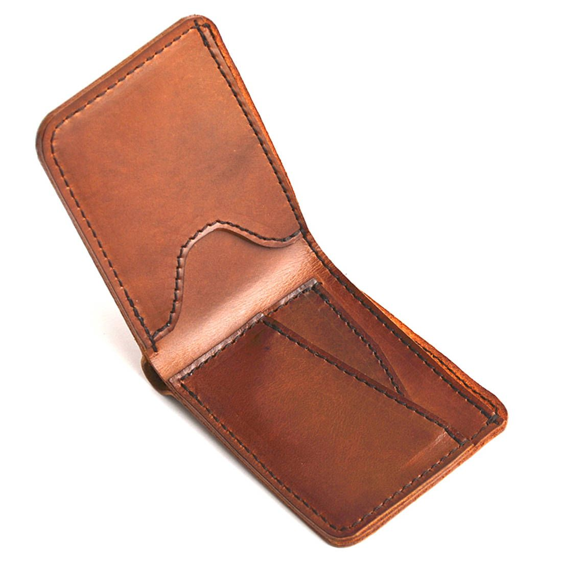 3ceb8935c Slim Mens Leather Wallet, Brown & Black Leather Bifold Wallet for ...