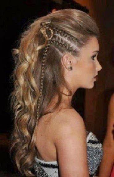 Peinados Trenzas Al Costado Cabello Suelto Buscar Con Google Peinados Con Trenzas Peinado Y Maquillaje Peinados