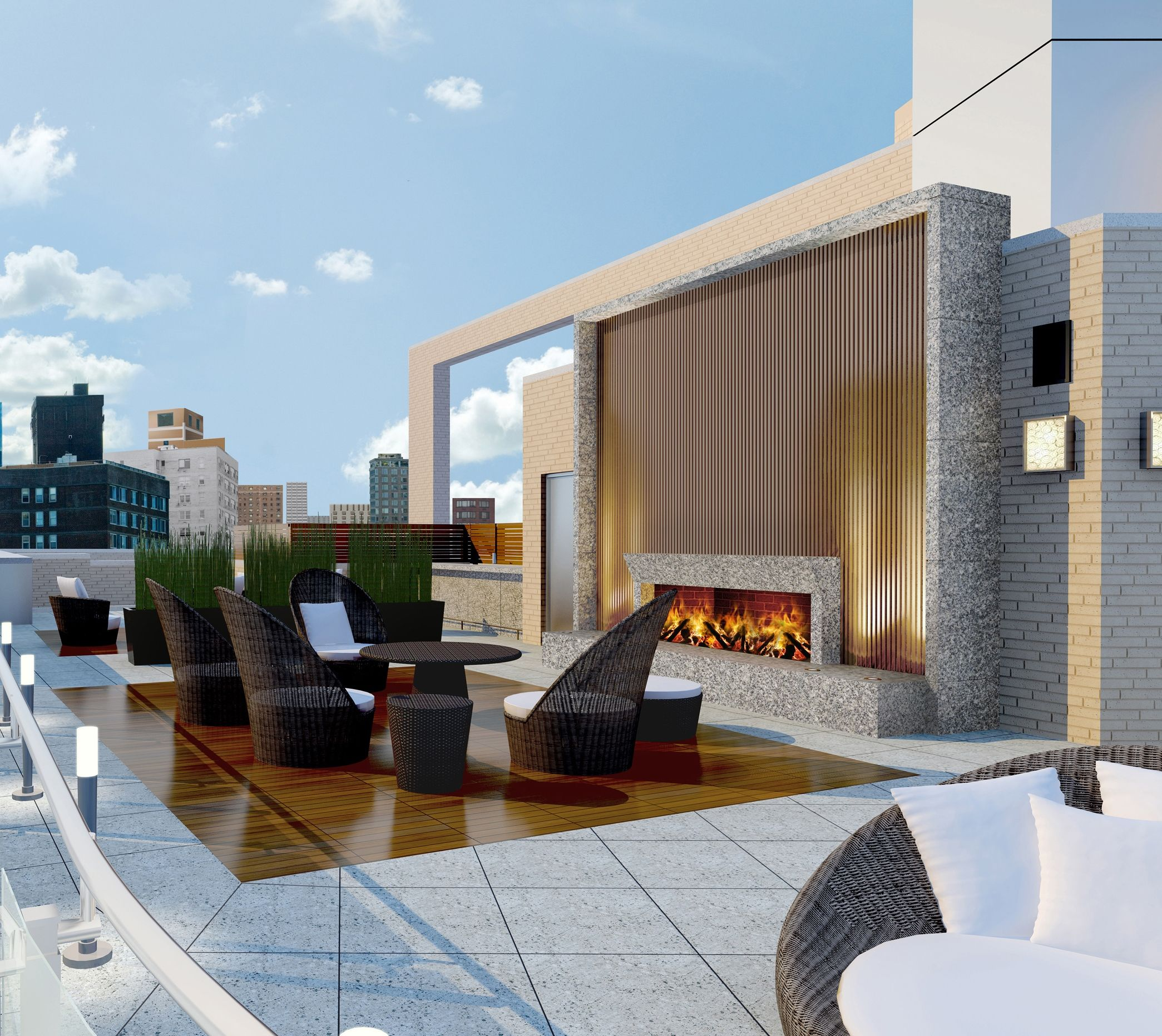 200 West 72nd Street, NY Rooftop design, Interior