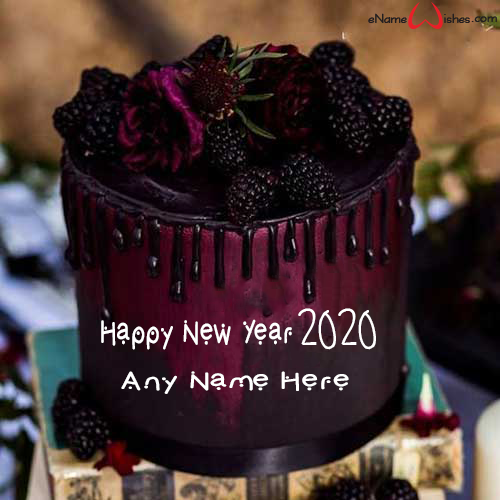 write on amazing new year blackberry cake