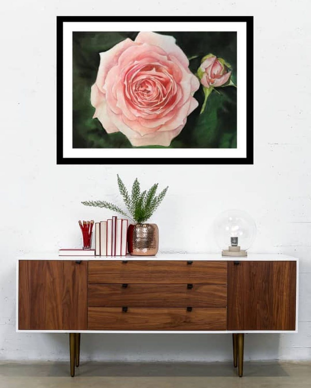 نقاشی طراحی گل رز