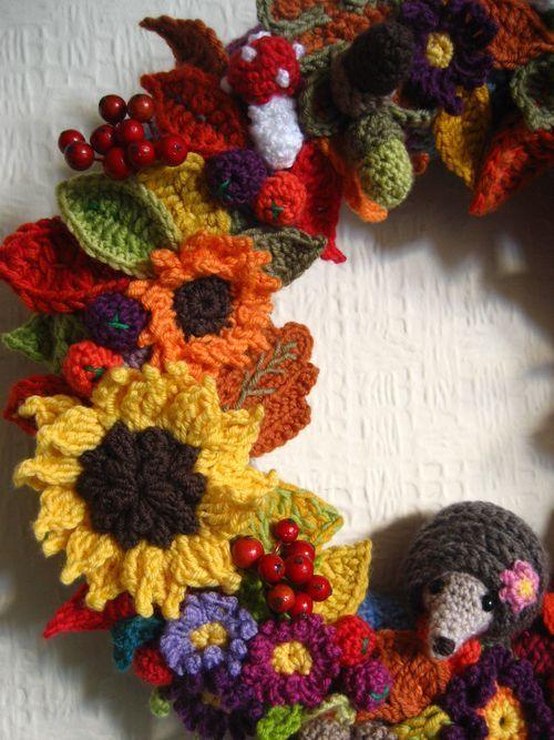 Photo of Fall wreath :: Ta-dah!